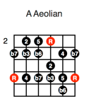 A Aeolian (fifth position)