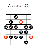 A Locrian #2 (fifth position)